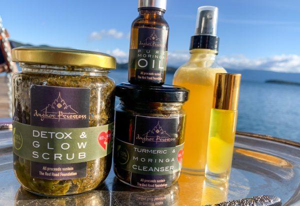 Skincare Line: Moringa, 100% Pure Honey, Galangal & Turmeric